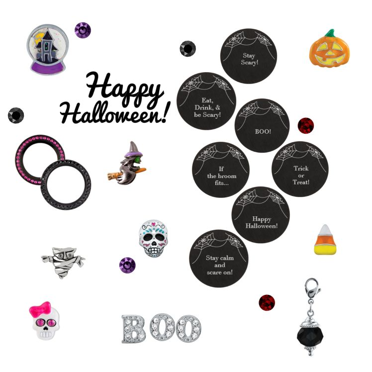 halloween origami owl inscriptions charms